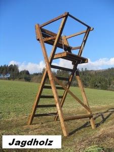 Ansitzdrückjagdleiter 2 Sitzer 3 m hoch zum Klappen