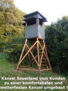 4 Kanzeln Sauerland inkl. 3 m Unterbau und Speditionsversand