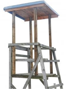 Dach für Drückjagdböcke